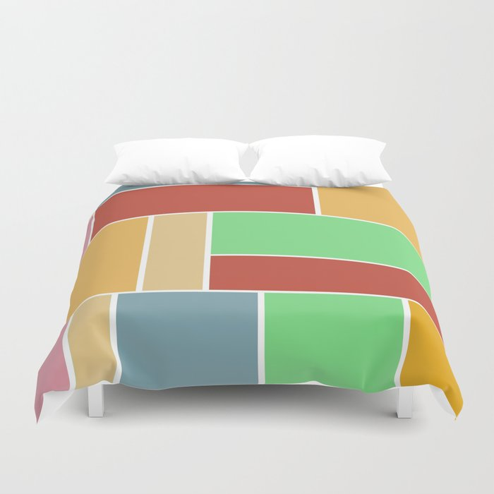 Abstract #347 60's Color Palette Duvet Cover