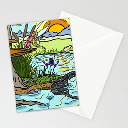 Fishing for Trouble Stationery Cards