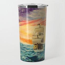 Pirating by Sunset Travel Mug