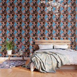 Brown Klee houses Wallpaper