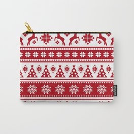 Christmas Holiday Nordic Pattern Cozy Carry-All Pouch