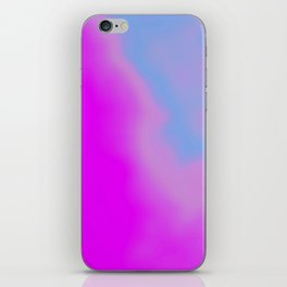 pink blue purple iPhone Skin