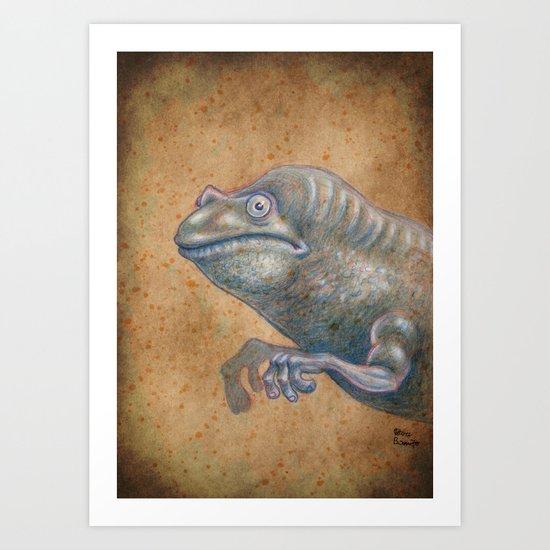 Medieval monster XIV Art Print