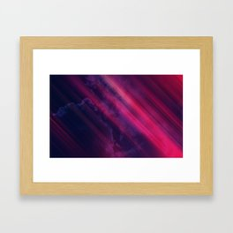Vibrant Colorful Rays between Clouds 10 Framed Art Print
