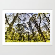 The Pastel Summer Forest Art Print