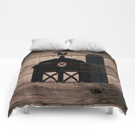 Black Rustic Barn & Rooster Comforters