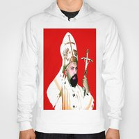 chad wys Hoodies featuring pope chad by Chad M. White