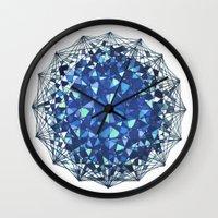 snowflake Wall Clocks featuring Snowflake by LDBEAN