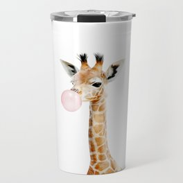 Bubble Gum Baby Giraffe Travel Mug