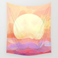 sunrise Wall Tapestries featuring Sunrise by Okti