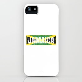 Jamaican Flag Vintage Jamaica Country Gift iPhone Case