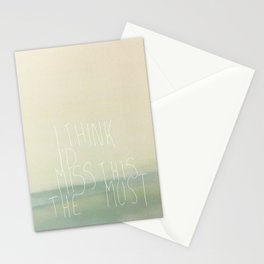 I'd miss this Stationery Cards