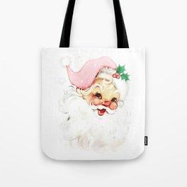 pink retro vintage santa Tote Bag