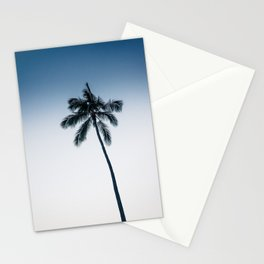 palm tree ver.navy Stationery Cards