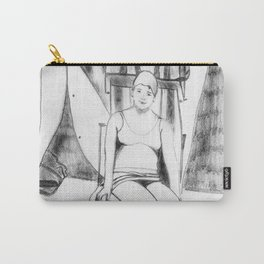 Bather with cap Carry-All Pouch