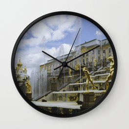 Fountains of Peterhof Wall Clock