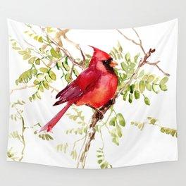 Northern Cardinal, cardinal bird lover gift Wall Tapestry