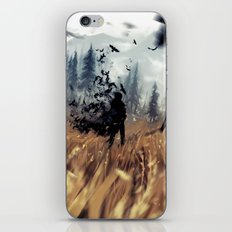 crows in the field iPhone & iPod Skin