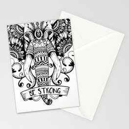 Giant Elephant Head sketch Stationery Cards