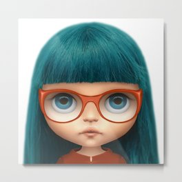 Blythe digital customization Metal Print