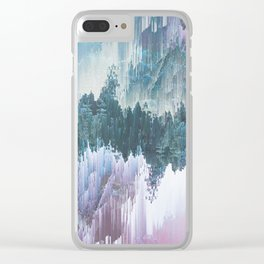 Glitched Landscapes Collection #5 Clear iPhone Case