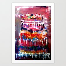 Cake Dripping Art Print