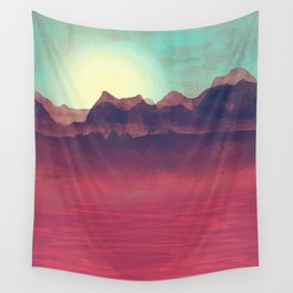 Distant Mountains Wall Tapestry