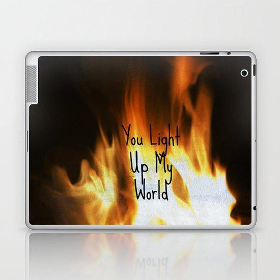 You Light Up My World Laptop & iPad Skin