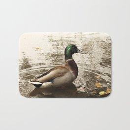 Sitting Duck waits Bath Mat