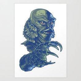 Portrait of the Creature Art Print