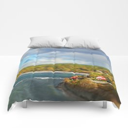 View from the cliff Comforters