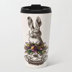 Rabbit in a Teacup Metal Travel Mug