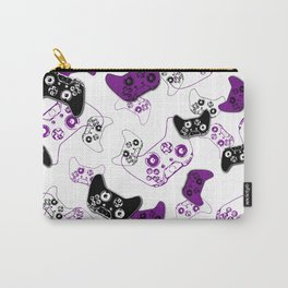 Video Game White & Purple Carry-All Pouch