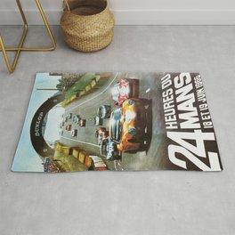 1966 Le Mans poster, Race poster, car poster, garage poster Rug
