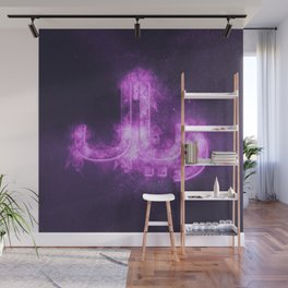 Iranian Rial symbol. Iranian Rial Sign. Monetary currency symbol. Abstract night sky background. Wall Mural