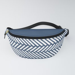 Herringbone Boarder Navy Fanny Pack