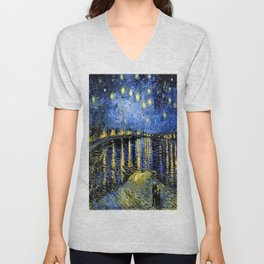 Vincent Van Gogh Starry Night Unisex V-Neck