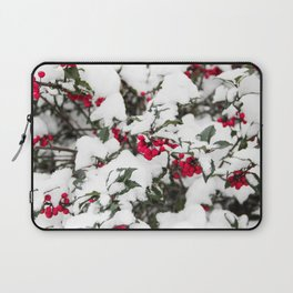 SNOW COVERED HOLLY Laptop Sleeve