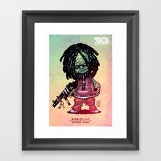 Z gang - Babbler Sam - Villains of G universe  Framed Art Print