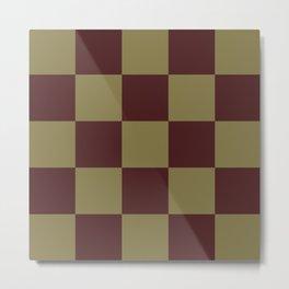 Classic Checked Pattern Longana Metal Print