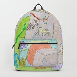 Rock paintings Backpack