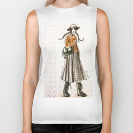 Cozy country walk Biker Tank