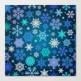 Snowflake pattern Canvas Print