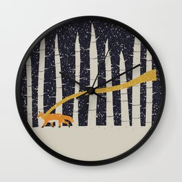 The Gold Scarf Wall Clock