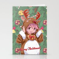 madoka magica Stationery Cards featuring Xmas Madoka Magica by Neo Crystal Tokyo