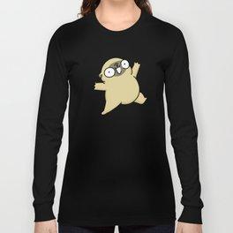 Mochi the pug jumping yay! Long Sleeve T-shirt