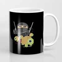 ninja turtle Mugs featuring Ninja Turtles by Adamzworld