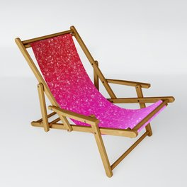 Red/Pink Glitter Gradient Sling Chair