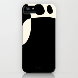 shapes black white minimal abstract art iPhone Case