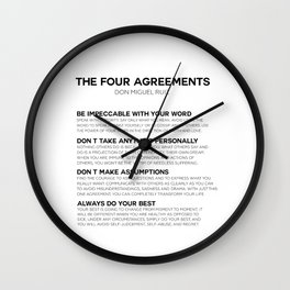 the four agreements Wall Clock